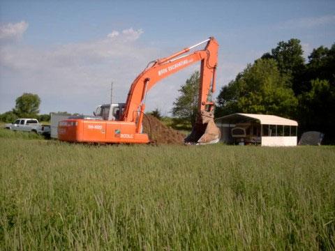 excavator's backhoe