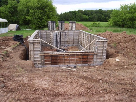 Basement construction small house building for Basement construction