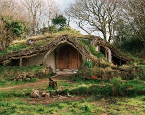 "The famous, whimsical ""hobbit house"" by Simon & Jasmine Dale in the UK."